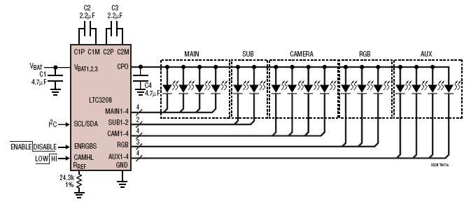 Высокоэффективный драйвер LED LTC3208-1