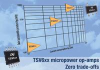 новые серии операционных усилителей от STMicroelectronics