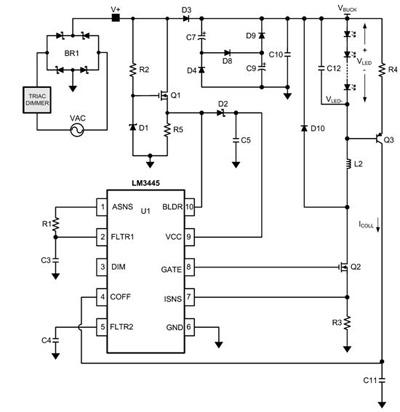 Функциональная схема включения LM3445