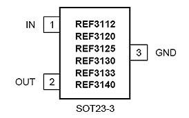 Расположение выводов REF3125AIDBZR