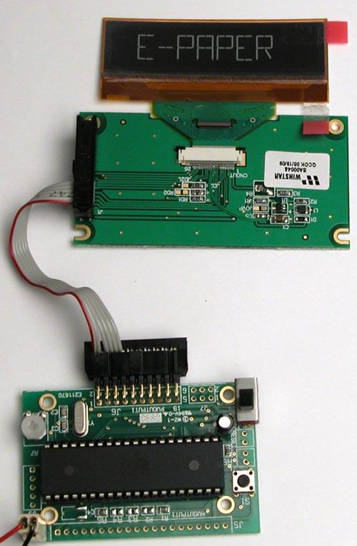 Программирование индикатора на основе электронной бумаги E-paper
