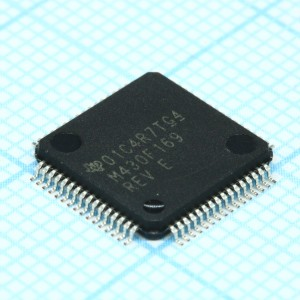 MSP430F169IPMR, Микроконтроллер 16-Bit, 60kB Flash, 2KB-RAM, 12 bit-ADC, USART, Comparator