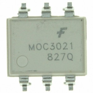 MOC3021SR2M, OPTOISOLATOR 5.3KV TRIAC 6SMD