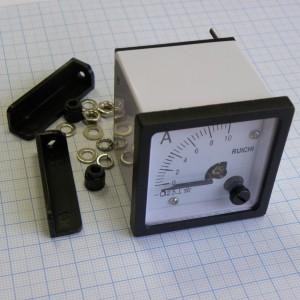 Амперметр 0-10А (48х48мм) имп. 2.5, Измерительная головка DCA 10A вертикального положения, класс точности 2,5