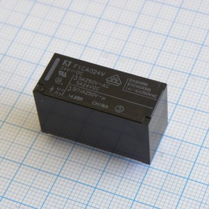 FTR-F1CA024V, Power Relay 24VDC 7A DPDT (29mm 12.8mm 16.5mm) THT